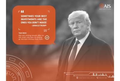 Lời khuyên đáng giá của Donald Trump dành cho giới đầu tư